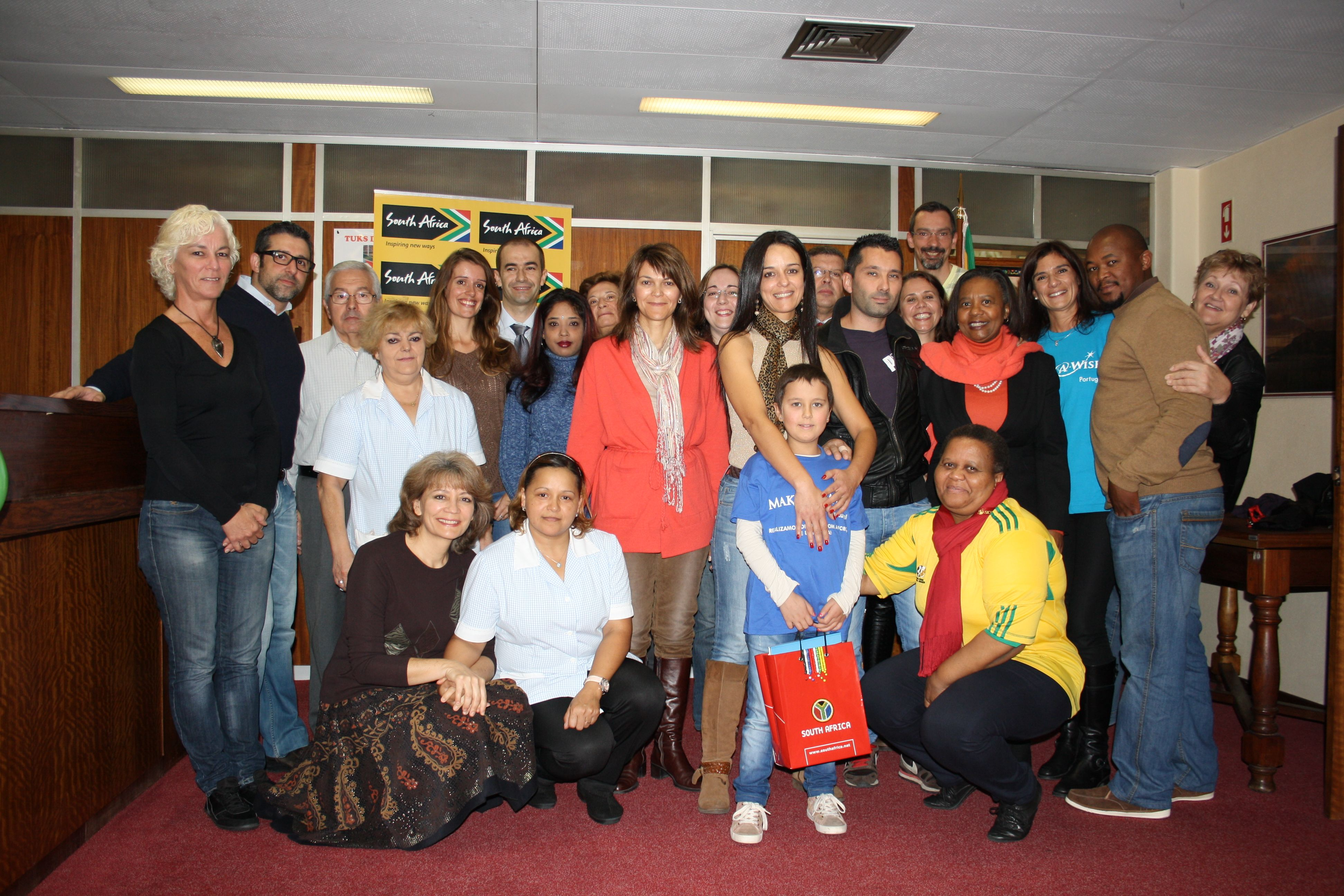 Cristiana and family were hosted at SA Embassy