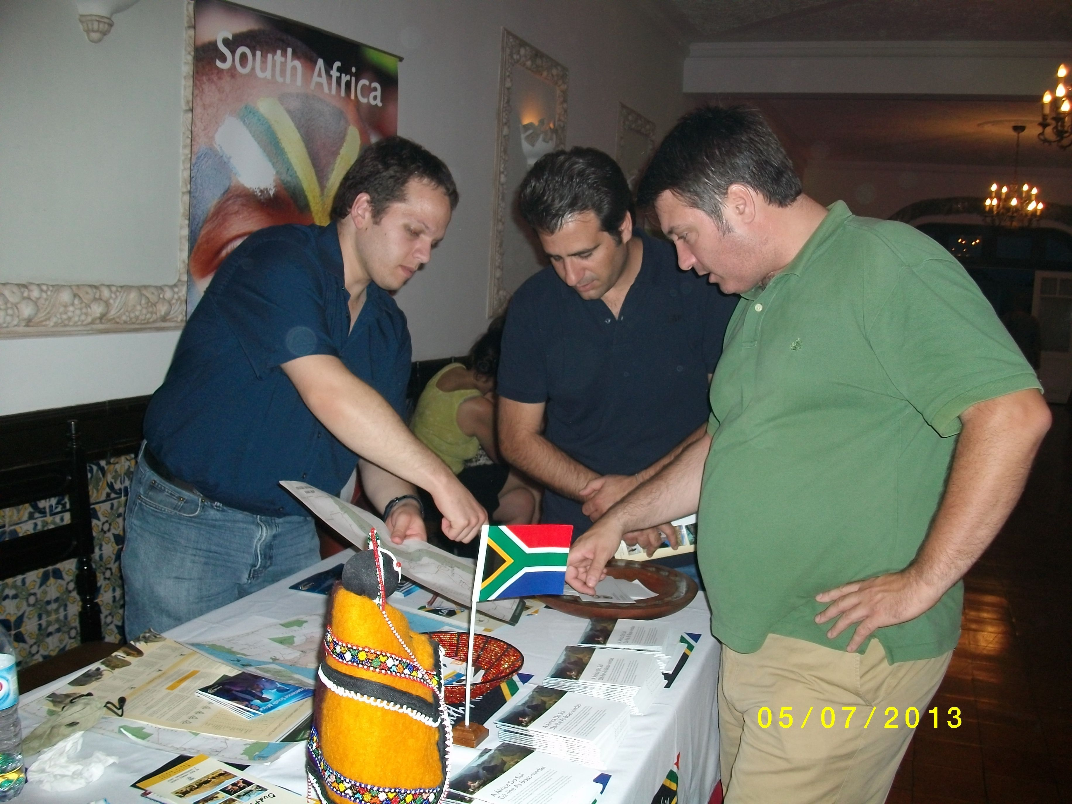 Mr R Stroebel, First Secretary interacting with the local tourism trade